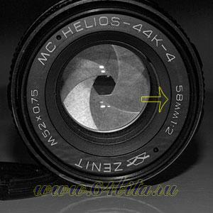 фокусное расстояние 58 мм