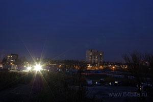 Ночной пейзаж. Завален горизонт